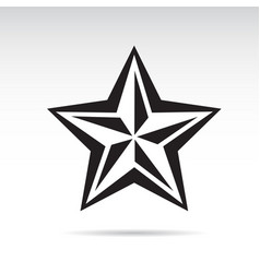 Black star icon vector
