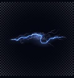 blue lightning on black background vector image