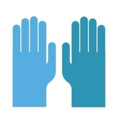 Blue medical gloves vector image