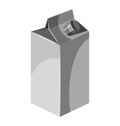 Box for juice with lid icon gray monochrome style vector image