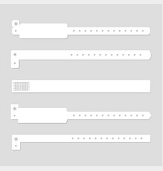 Bracelet wristband set vector