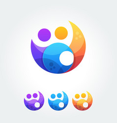 Business cooperation unity friends icon simple vector