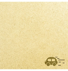 Car road and paper vector