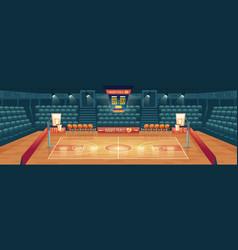 cartoon background empty basketball vector image