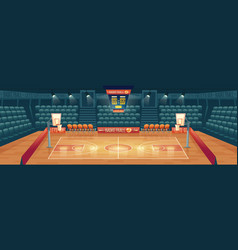 cartoon background of empty basketball vector image