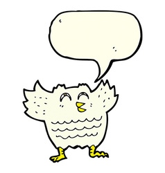 cartoon black bird with speech bubble vector image