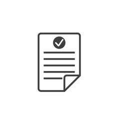 checklist document icon graphic design template vector image