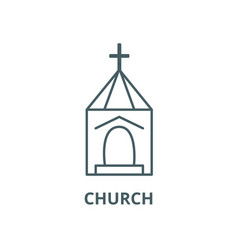 church wedding line icon church wedding vector image