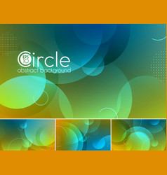 Circle abstract background - duotone vector