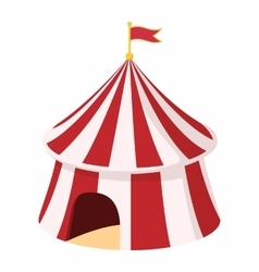 Circus tent cartoon vector image