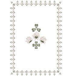 clover frame vector image