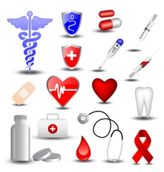 collection medical icons vector image