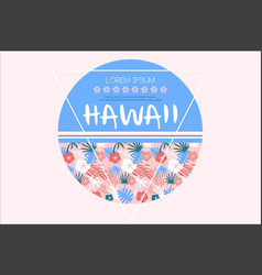 Colored related to hawaii vector