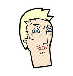 Comic cartoon angry face vector