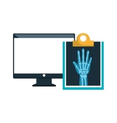 Computer and X rays vector