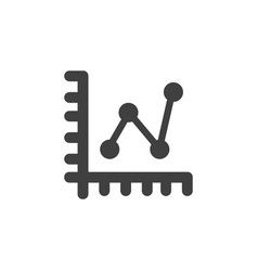database server line chart icon element vector image