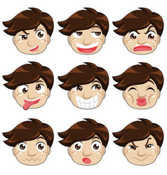 Different face expressions vector