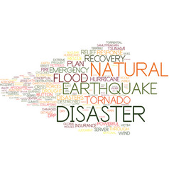 Disaster word cloud concept vector