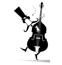 Double bass musician vector image
