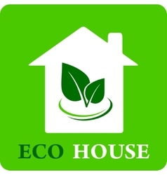 Eco house icon vector