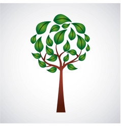 ecology round tree branch leaves natural vector image