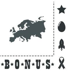 Eurasia map flat icon vector