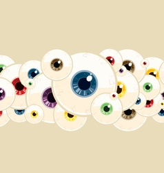 eyeball pattern vector image