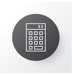 financial budget icon symbol premium quality vector image