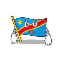 Flag democratic republic cartoon character showing vector