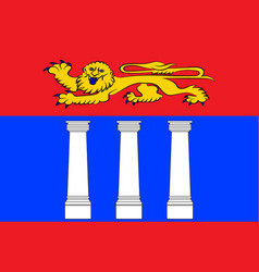 Flag of coutances in manche of normandy is a vector
