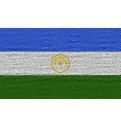Flags Bashkortostan on denim texture vector image