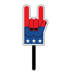 Foam finger for elections in America Foam finger vector image