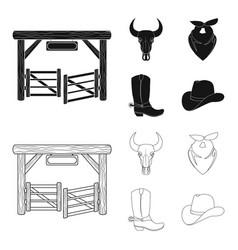 Gates a bull skull a scarf around his neck vector