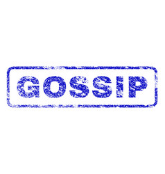 Gossip rubber stamp vector