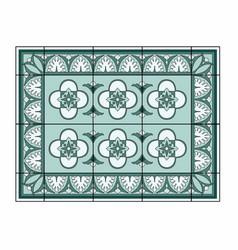 Green carpet with border vector