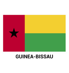 guinea-bissau flags design vector image