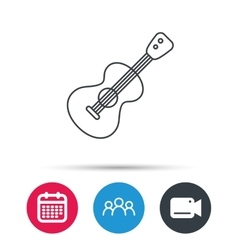 Guitar icon Musical instrument sign vector