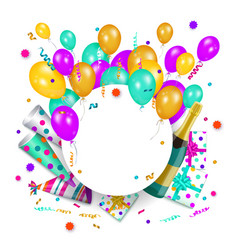 Happy birthday banner poster template vector
