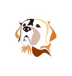 head dog vector image