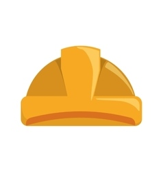 Helmet yellow constructer worker construction icon vector