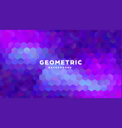 hexagonal polygonal abstract background colorful vector image