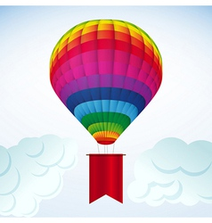 Hot air balloon background vector