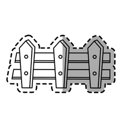 Isolated fence design vector image