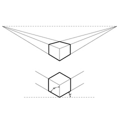 Isometric and perspective drawings vector