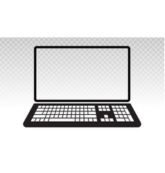 Laptop or notebook computer flat icon vector
