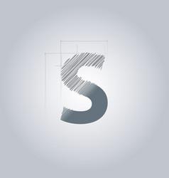 Letter s logo alphabet logotype architectural vector