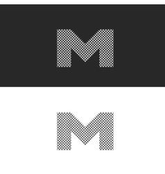 Logo letter M monogram black and white vector
