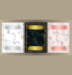 luxury marble set vector image