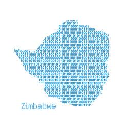 map zimbabwe vector image