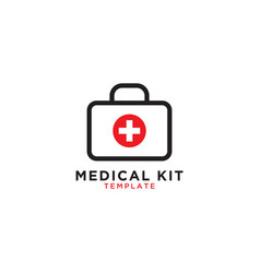 medical first aid kit graphic template vector image